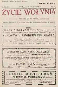 Życie Wołynia : czasopismo bezpartyjne, myśli i czynowi polskiemu na Wołyniu poświęcone. 1925, nr39
