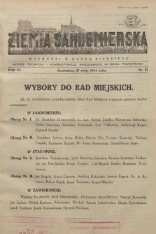 Ziemia Sandomierska : czasopismo samorządowo-społeczne. R. VI, 1934, nr 21