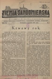 Ziemia Sandomierska : czasopismo samorządowo-społeczne. R. VII, 1935, nr 1