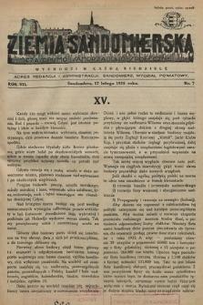 Ziemia Sandomierska : czasopismo samorządowo-społeczne. R. VII, 1935, nr 7