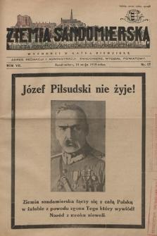 Ziemia Sandomierska : czasopismo samorządowo-społeczne. R. VII, 1935, nr 17