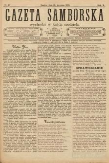 Gazeta Samborska. 1905, nr17