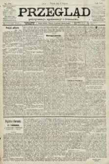 Przegląd polityczny, społeczny i literacki. 1891, nr176