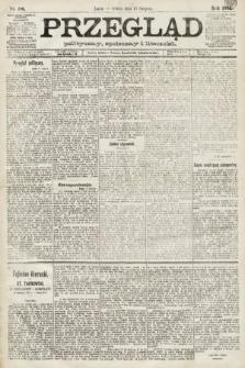 Przegląd polityczny, społeczny i literacki. 1891, nr186