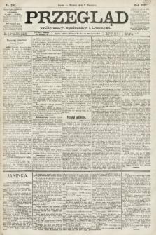 Przegląd polityczny, społeczny i literacki. 1891, nr205