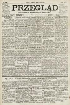 Przegląd polityczny, społeczny i literacki. 1891, nr206