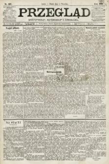 Przegląd polityczny, społeczny i literacki. 1891, nr207