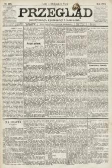 Przegląd polityczny, społeczny i literacki. 1891, nr208