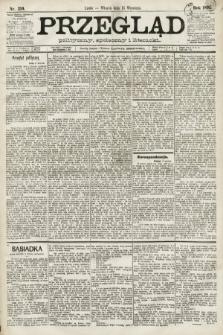 Przegląd polityczny, społeczny i literacki. 1891, nr210
