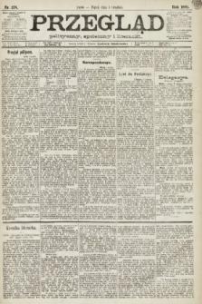Przegląd polityczny, społeczny i literacki. 1891, nr278