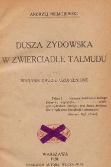 Dusza żydowska w zwierciadle Talmudu : wydanie drugie poprawione