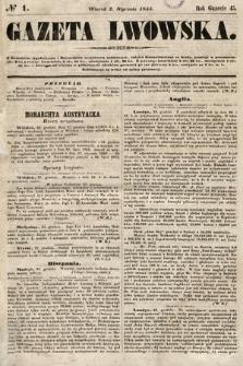 Gazeta Lwowska. 1855, nr1