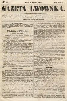 Gazeta Lwowska. 1855, nr4