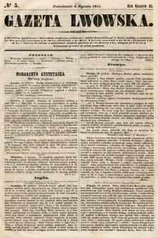 Gazeta Lwowska. 1855, nr5