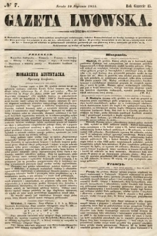 Gazeta Lwowska. 1855, nr7