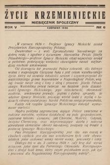 Życie Krzemienieckie : miesięcznik społeczny. 1936, nr 6