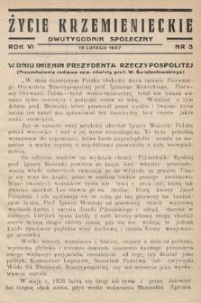 Życie Krzemienieckie : dwutygodnik społeczny. 1937, nr 3