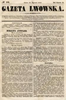 Gazeta Lwowska. 1855, nr10
