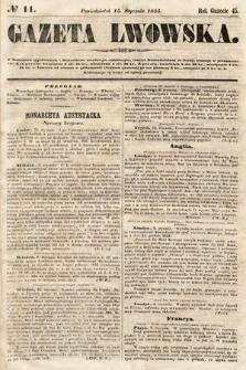 Gazeta Lwowska. 1855, nr11