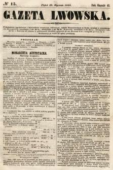 Gazeta Lwowska. 1855, nr15