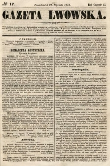 Gazeta Lwowska. 1855, nr17