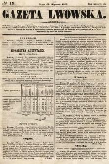 Gazeta Lwowska. 1855, nr19