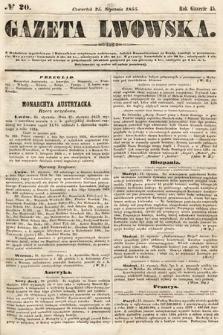 Gazeta Lwowska. 1855, nr20