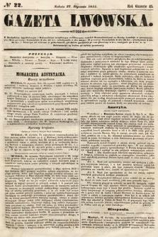 Gazeta Lwowska. 1855, nr22