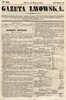 Gazeta Lwowska. 1855, nr24