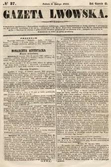 Gazeta Lwowska. 1855, nr27