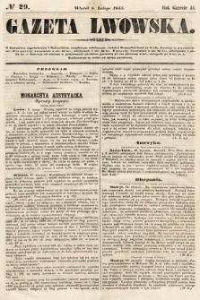 Gazeta Lwowska. 1855, nr29