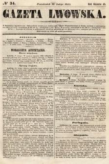 Gazeta Lwowska. 1855, nr34