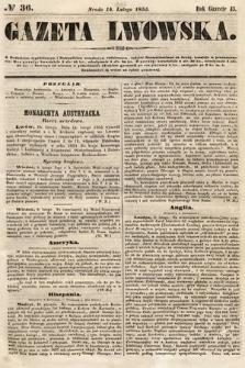 Gazeta Lwowska. 1855, nr36