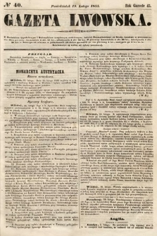 Gazeta Lwowska. 1855, nr40