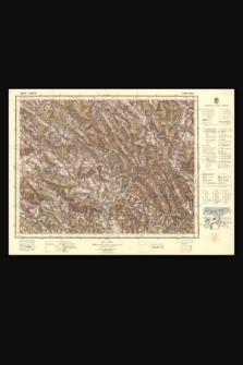 Mapa taktyczna Polski : pas 51, słup 33 : Jaśliska
