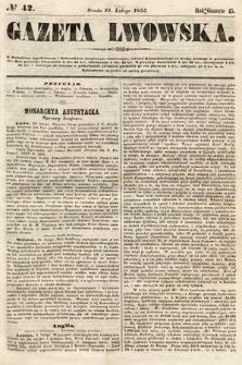 Gazeta Lwowska. 1855, nr42