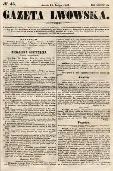 Gazeta Lwowska. 1855, nr45