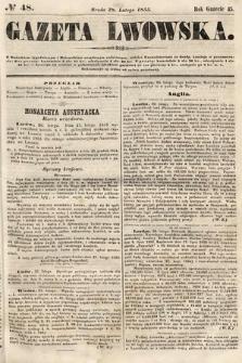 Gazeta Lwowska. 1855, nr48