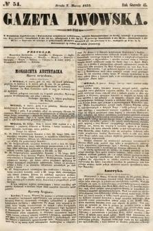 Gazeta Lwowska. 1855, nr54
