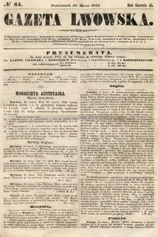 Gazeta Lwowska. 1855, nr64