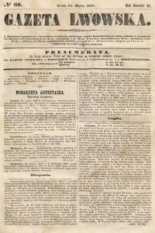Gazeta Lwowska. 1855, nr66