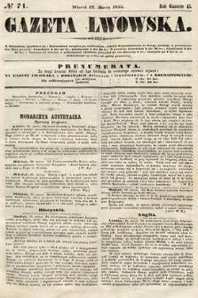 Gazeta Lwowska. 1855, nr71
