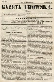 Gazeta Lwowska. 1855, nr74