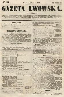 Gazeta Lwowska. 1855, nr83