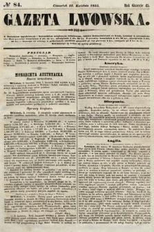 Gazeta Lwowska. 1855, nr84