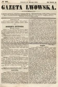 Gazeta Lwowska. 1855, nr90