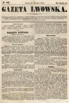 Gazeta Lwowska. 1855, nr92