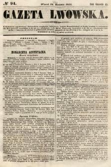 Gazeta Lwowska. 1855, nr94