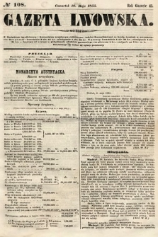 Gazeta Lwowska. 1855, nr108