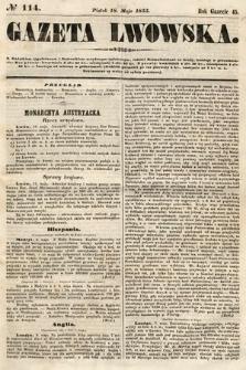 Gazeta Lwowska. 1855, nr114